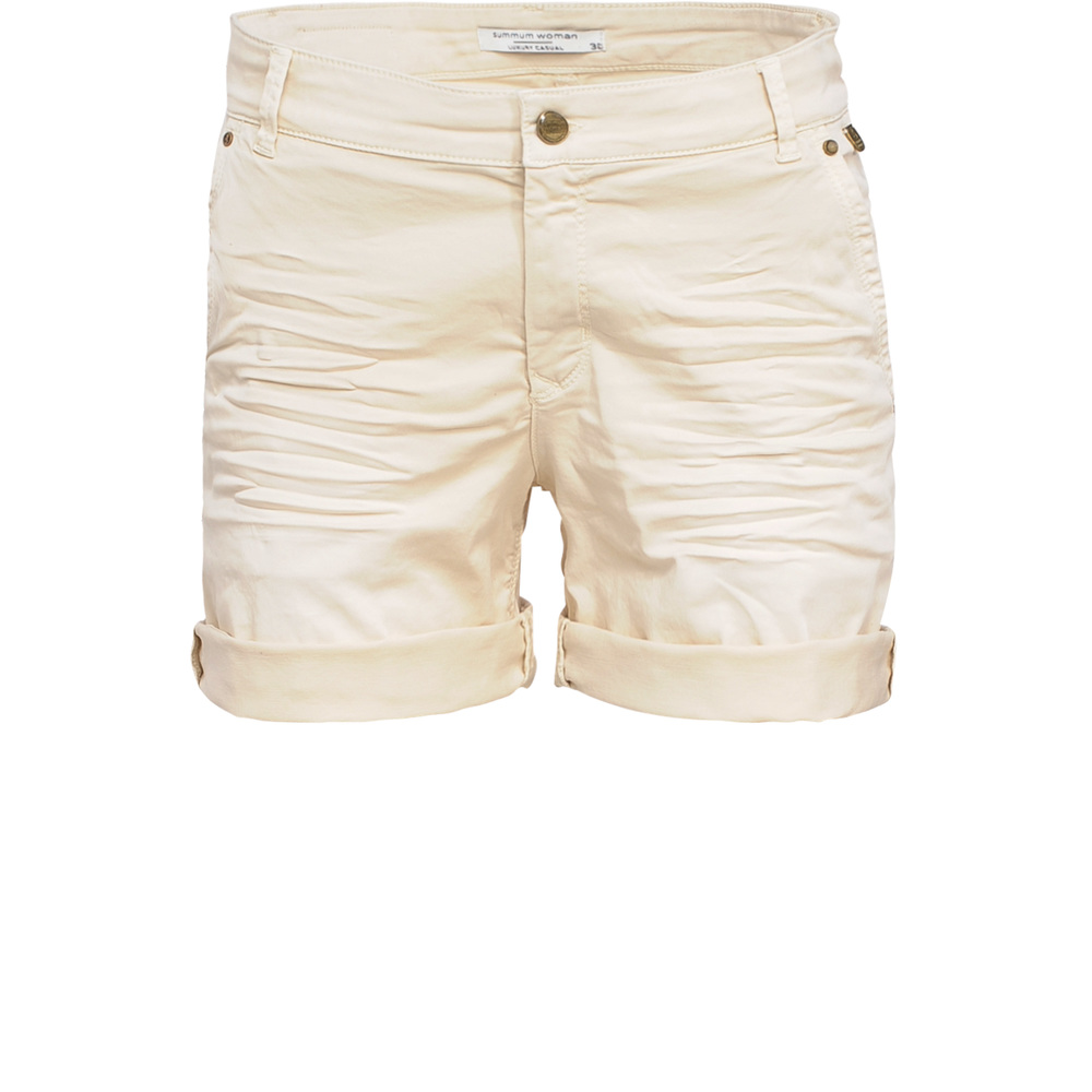 Short trouser with piping