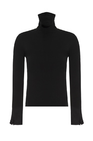 Turtleneck sweater with cut-outs