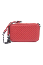 Intrecciato Leather Wallet on Chain