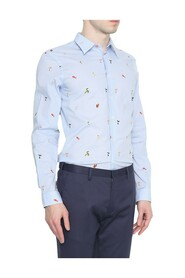 Tailored Fit Bird Print Shirt