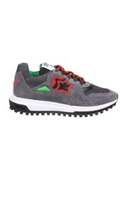 castor sneakers in nylon and suede