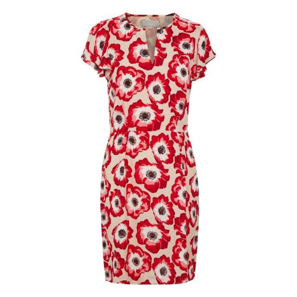 In Wear Ranya Short Dress LW Oriental Poppy Red
