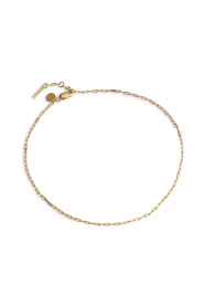 Souvenir Anklet, gold plated sterling silver
