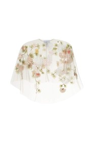 Capelet with 3d Flowers