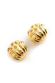 Bold button clip on earrings