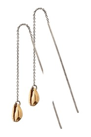 Earrings with shell design