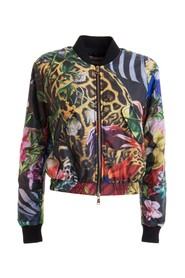 Jungle patterned bomber