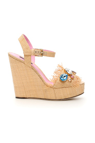 Bianca wedge sandals in tropea straw