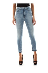 CALVIN KLEIN JEANS J20J211407 - 010 HIGH RISE JEANS Women DENIM LIGHT BLUE