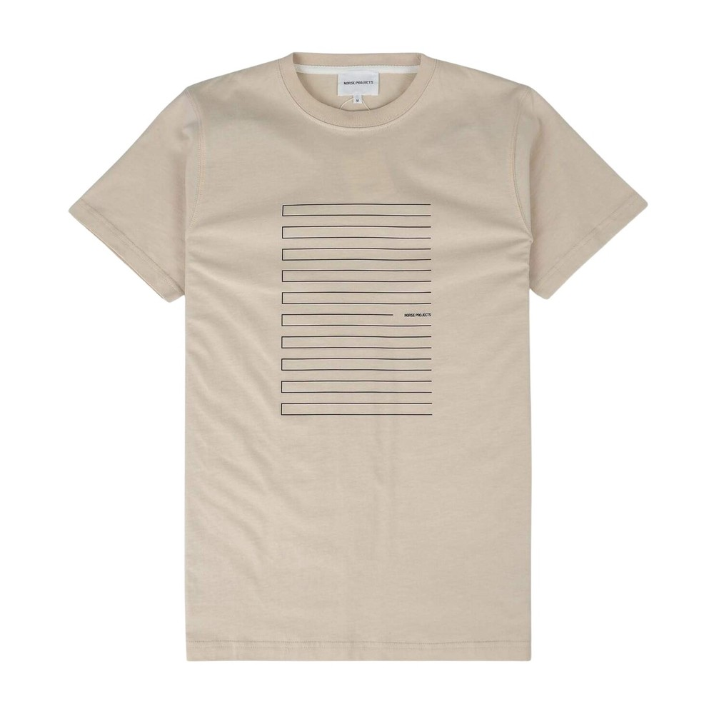 Niels Stripe Screen Logo T-Shirt Norse Projects