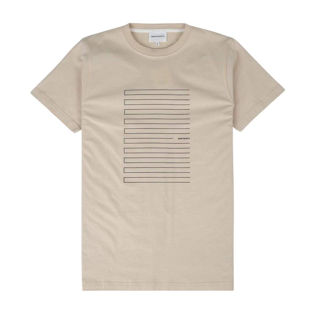 Niels Stripe Screen Logo T-Shirt Norse Projects