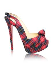 Tartan Platform Slingback Pumps -Pre Owned Condition Excellent