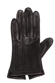 Running glove in pure leather