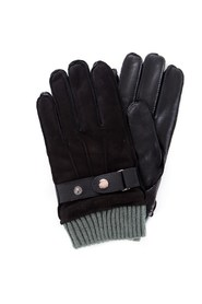 GUESS AM8575LEA02 Gloves Men BLACK
