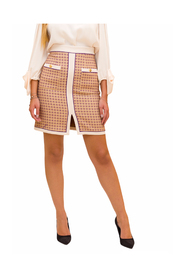 Short skirt in a tie print fabric