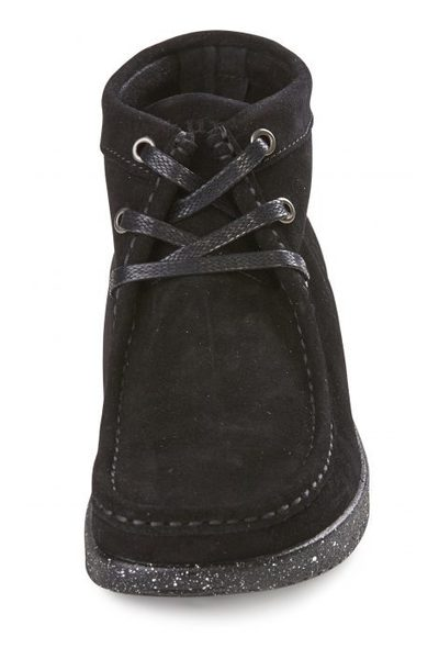 8a3965a2d50 Sort Nature Støvle Emma Suede black with matching sole | Nature ...