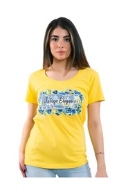 Solid Color T-Shirt With Print