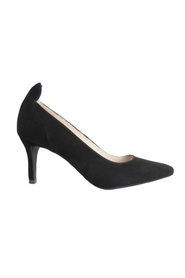 Sort Suede Pumps Front Society