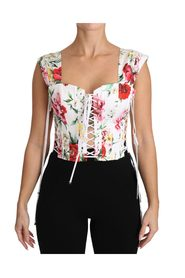Floral Cropped Corset Top