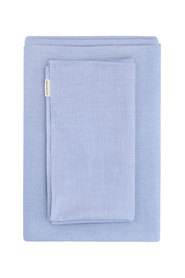 duvet cover set chambray - single