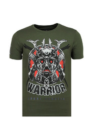 Savage Samurai - Print T shirt Heren