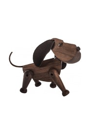 Dog Bobby Walnut figure