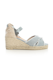 CROSSED ESPADRILLES W/LACE ON ANKLE