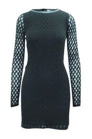 Mesh Dress With Leather Trim -Pre Owned Condition Good