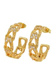 Alexis Earrings in Gold Plated Brass