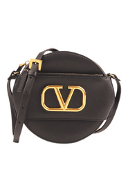 V Sling Leather Crossbody Veske