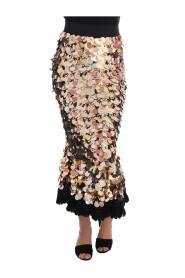 Sequined Peplum High Waist Skirt