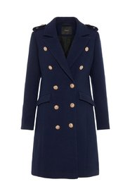 Coat Navy wool-blend