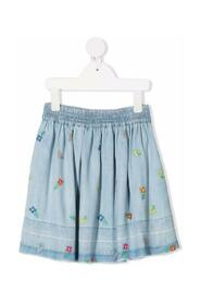 Lyocell Embroidered Skirt