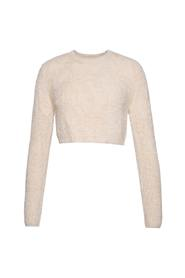 Cropped Fuzzy Knit