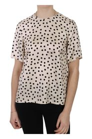 Polka Dot Short Sleeve Top Blouse