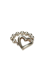 Sterling Silver Heart Cutout Ring Metal SV925