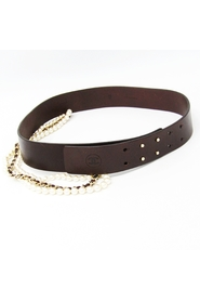 Leather and Pearl Belt