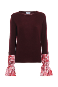 Printed cuff sweater