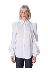 Camicia con spalla arricciata