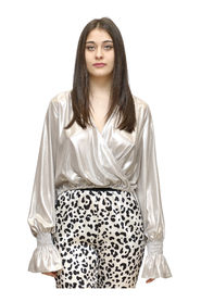 Mayonnaise Blouse in laminated georgette