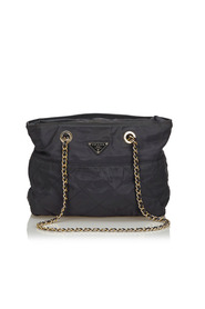 Quilted Nylon Chain Tote Bag