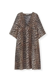 Leopard Silk Dress