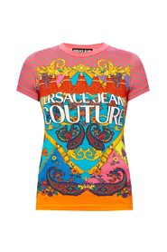 Patterned T-shirt with logo