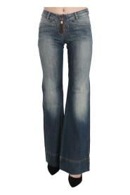 Mid Waist Boot Cut Denim Jeans