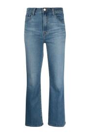 Jeans Franky High Rise Crop Boot Cut Earthen