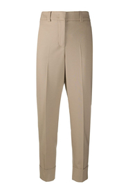 Tapered mid-waisted pants