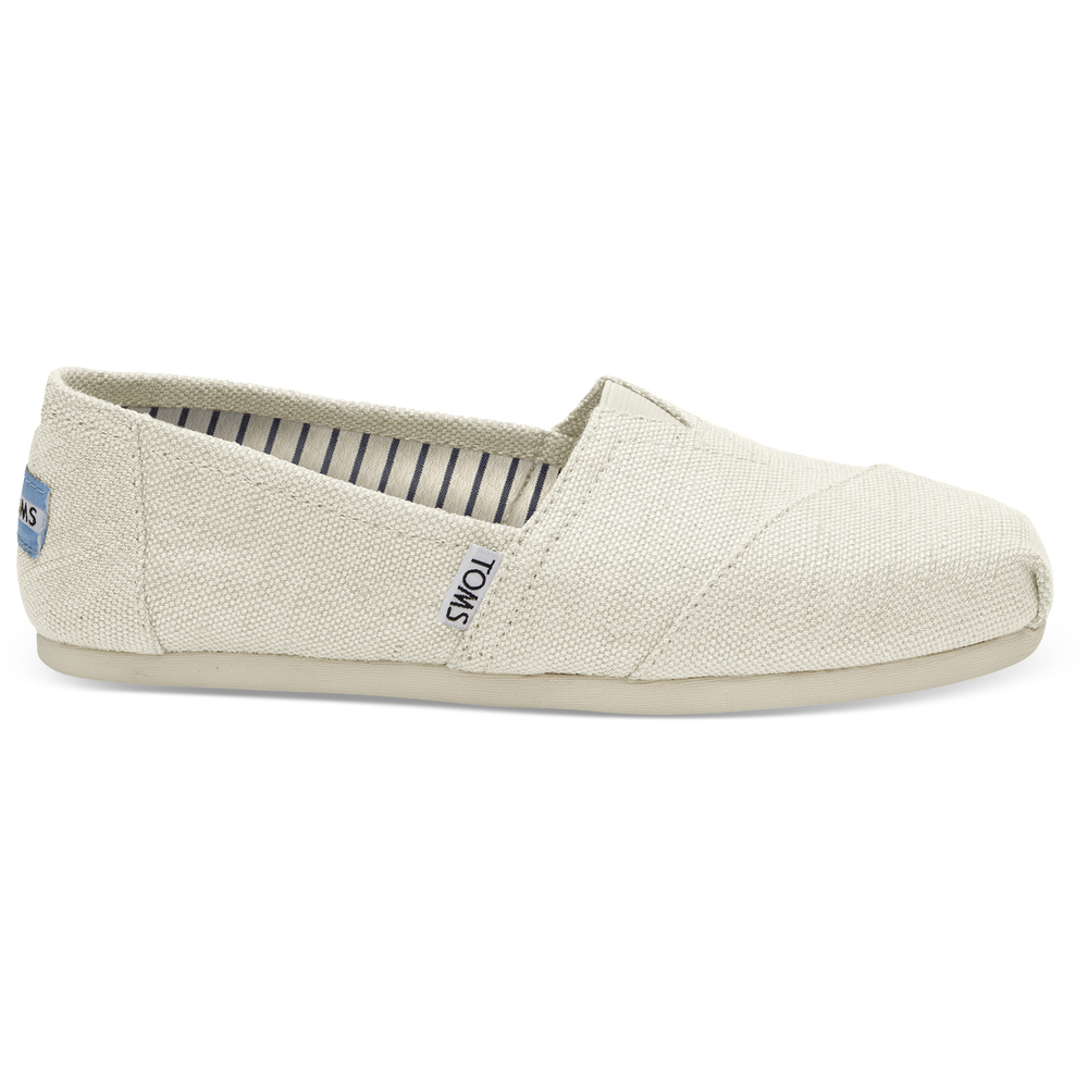 Antique White Heritage Canvas Toms Alpargata