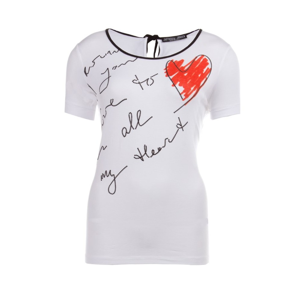lKINA Quote t-shirt met cut-out detail