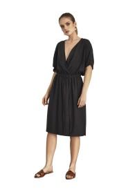Sukienka wiskozowa z kieszeniami