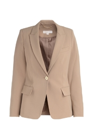 Derby blazer in camel fabric